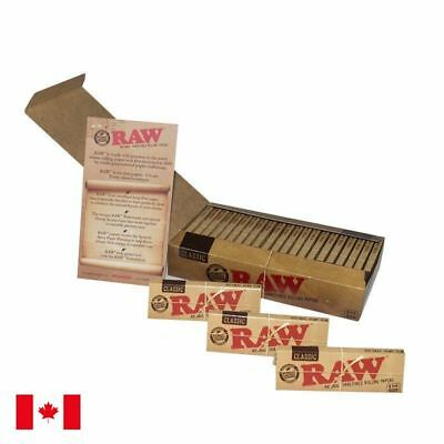RAW CLASSIC 1 1/4 UNREFINED Natural rolling paper X 3 booklets