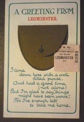 Birn Brothers Novelty Edwardian Postcard 'a Greeting From Leominster'