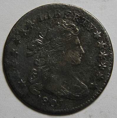 1807 Draped Bust Dime 10¢ Rare Coin Lot# MZ 4071