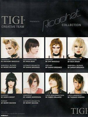.tigi/toni&guy 'ricochet' 6 Dvd Set/undercut/color/hair Dressing/nvq/bridal 99
