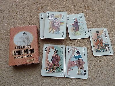 Rare Chronological Famous Women Playing Cards