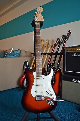 Squier Stratocaster Standard Electric Guitar in Sunburst with upgraded switching