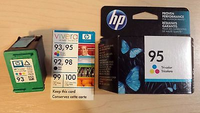 Hp - Tricolor print ink cartridges - Genuine New 93 and 95 - clearance 2 for 1