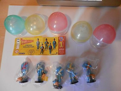 THUNDERBIRDS Set of 5 Thunderbird figures in Eggs By TOMY ( Carlton)2