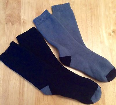 REDUCED 2x Peter Storm walking rambling socks Siz 5-6 cotton loop pile