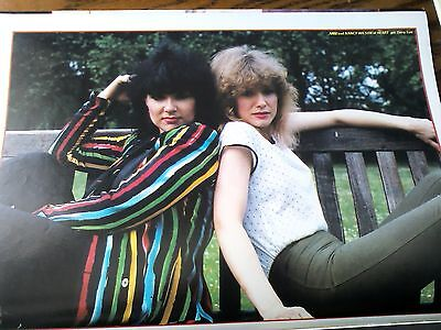 Ann and Nancy Wilson Heart Single Page Picture Music Book 27x19cm