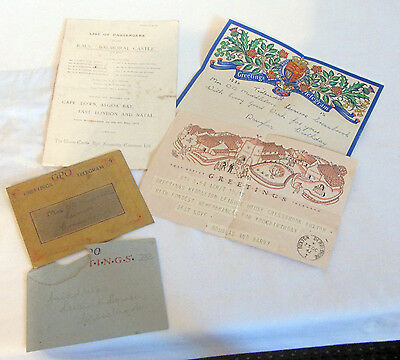 list of passengers shipping RMS Balmoral Castle STEAMSHIP 1912 DOCUMENT=+ GREET
