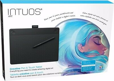 Wacom Intuos Art Pen and Touch Tablet CTH690AK - Medium Black