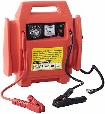 Carpoint Portable 17Ah 12v Car Battery Jump Starter 3 in 1 with Air Compressor