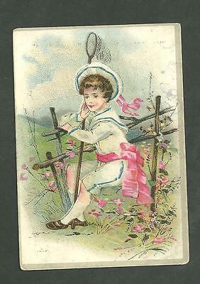1880's Trade Card A.F. Gruninger Shoes Oxford Ties & Slippers New York City