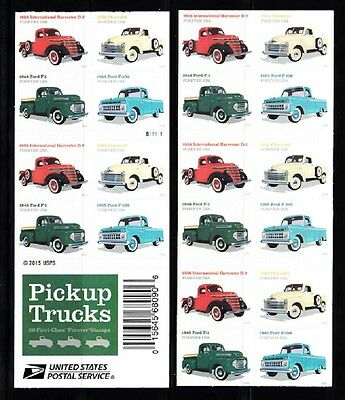 Usa Booklet Forever Sc# 5104B Pickup Trucks Pl# B11111- 20 Stamps Booklet S.a.