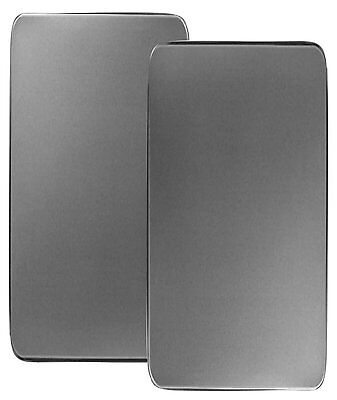 NEW Rectangular Stove Burner Covers Stainless Steel Set of 2 Kitchen Electric