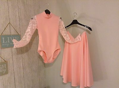 Girls Ballroom Latin Leotard and Skirt Outfit Age 8/9