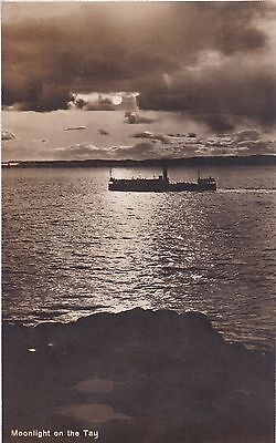 Dundee - Moonlight On The Tay - Real Photo