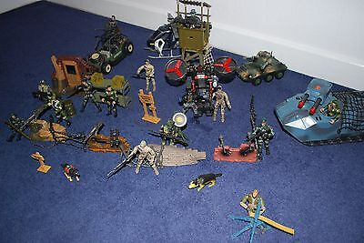 Action figures 35 GI Joe/Action Force style figures,Over 50 weapons, Lot