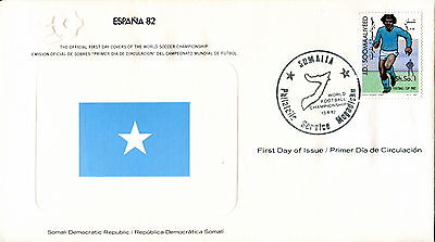 1982 Somalia. Football World Cup First Day Cover Royal Spain Football Federation