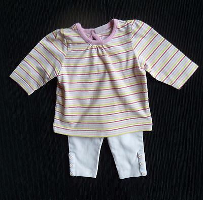 Baby clothes GIRL newborn 0-1m outfit Mothercare/Cherokee stripe top LS/leggings