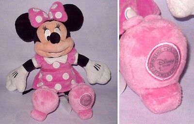 """Minnie Mouse - Disney Store Exclusive 14"""" In Pink Dress Plush Soft Toy Vgc"""