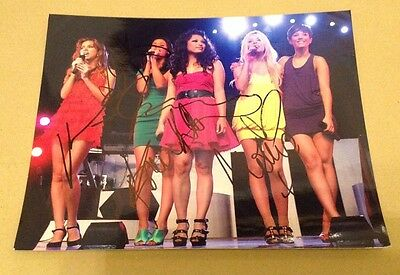 THE SATURDAYS  - ON STAGE  - FULLY SIGNED COL PHOTO - 10 x 8 Inches - AUTHENTIC