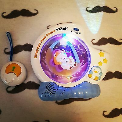 New Baby VTech Sleepy Bear Sweet Dreams remote Night Light Projector Mobile cot