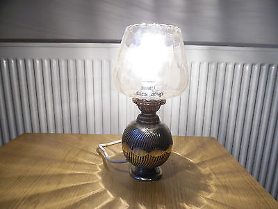 vintage mappin and webb princess plate table lamp