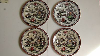 SET of ANTIQUE CHINESE PLATES - HAND DECORATED - GREAT SCENES