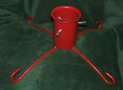 Christmas tree stand red robust metal, Perfect for large tree Hardly been used