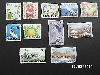 COOK ISLAND STAMPS - DEFINITIVES - 1963 - SG163-173 - MHH - 99p START.