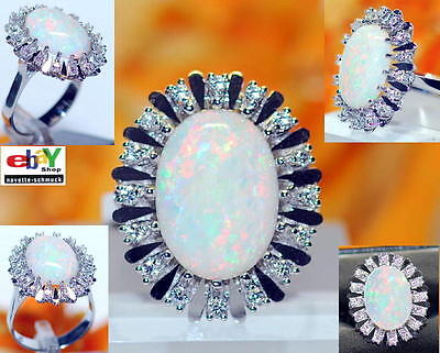 wertvoller exclusiver 8,64ct Brillant Volledel Opal 750er Goldring Wert 6990 €
