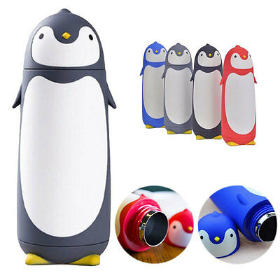 Itian Cute Penguin Stainless Steel Water Cup Thermos Bottle Cartoon Travel Mug