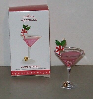 Hallmark Keepsake Ornament 2016 Cheers To Friends Martini Cosmopolitan Drink New