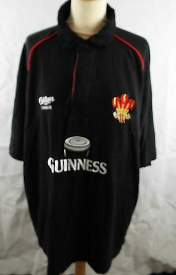 Cotton Traders Black Welsh Rugby Shirt 'Guinness' BNWOT size  XL