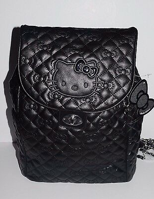 Sanrio License Hello Kitty Backpack - Black Color - Simulated Leather