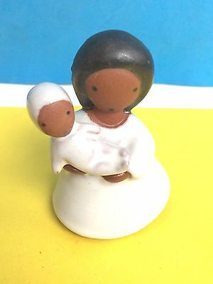 C. Bloch Denmark Mid-Century Modern Pottery Mother With Baby