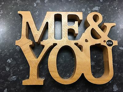 Me & You Next Wood Sign/Decoration - 5th Anniversary / Valentines / Wedding Gift