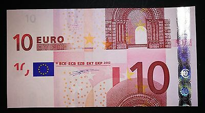 errore  GERMANY 10 euro NOTE 2002 CUTTING ERROR AND DIFFERENT SERIAL NUMBE UNC