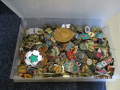 Approx 280 - 300 Russian/ Eastern Europe Football Badges
