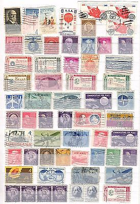 Collection of 59 American stamps