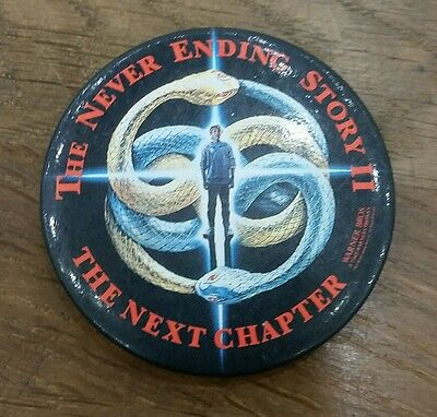 Vintage Auryn Never Ending Story II next chapter retro fantasy pin button badge