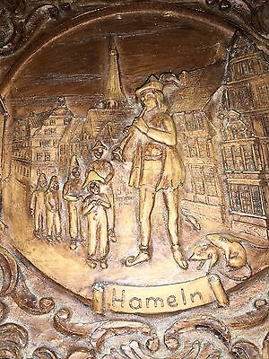 Old Pied Piper Of Hameln German Black Forest Style Tourist Plaque