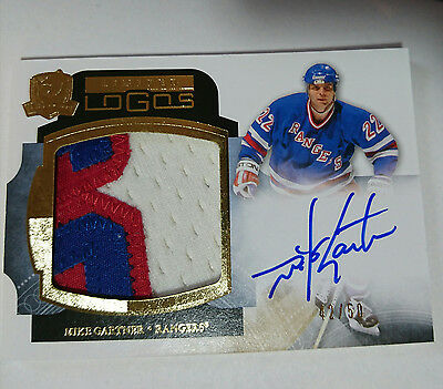2011-12 Upper Deck The Cup Limited Logos Mike Gartner Patch Auto /50