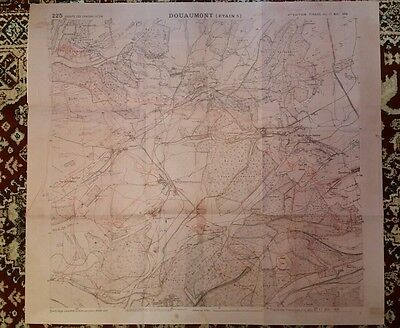 Ww1 Somme Copy Of 17Th May Operations Map Used By Gen. Costantini At Verdun