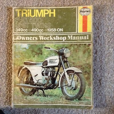 Haynes Owners Workshop Manual Triumph Motorcycle 350/500 Twin Unit 1958 On