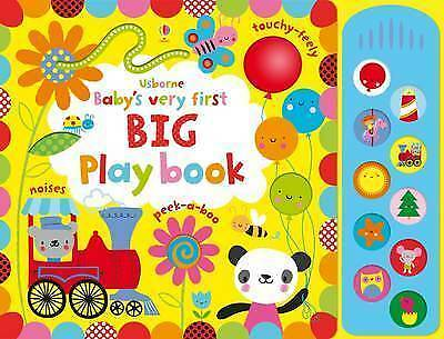 Baby'S Very First Big Play Book With Sound Panel Board + Sound Panel Usborne
