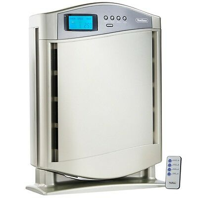 HEPA Air Purifier True Cleaner Ioniser Filter Remote Control Silver