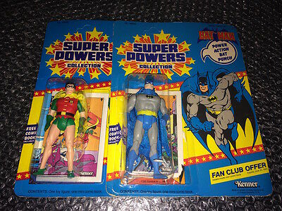 BATMAN & ROBIN Super Powers Collection Fan Club KENNER 1984 NEW RARE Unpunched