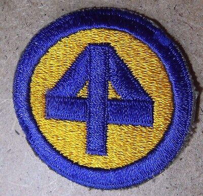 WW2 U.S. ARMY 44th INFANTRY DIVISION  White Backed Patch