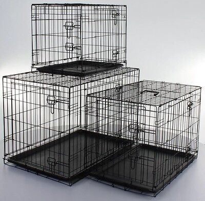 "Dog Life Small Animal Metal Cage Crate 25""x18""x21"""