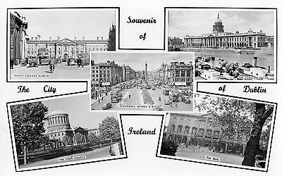 Souvenir Of The City Of Dublin Ireland Cardall Real Photo Irish Postcard