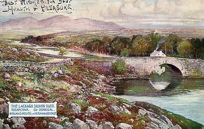 The Lackagh Salmon River Rosapenna Donegal Midland Route Ireland Posted Aug 1910